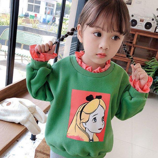 halukids_fashion3260 【トップス】スウィート かわいい 裏起毛 配色 子供服 スウェット·パーカー ①当店ホームページ で 24340960を検索してご購入ください。 ②また直接リンクでご購入 #秋冬 #ファション #fashion #新作 #韓国風 #通販 #girl