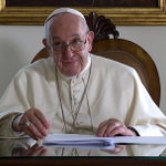 Image for the Tweet beginning: Francis has a message for
