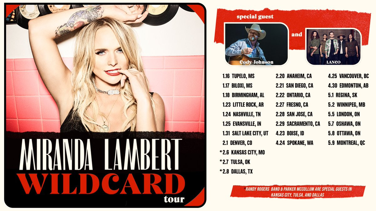 Did y'all catch Miranda's #CMAawards performance?!See her live again on the #WildcardTour next year! Get tickets here: http://mirandalambert.com/tour - Team ML
