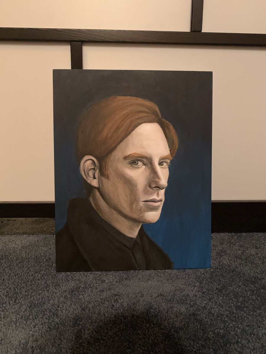 Acrylic portrait of #domhnallgleeson as #generalhux from @starwars      Completed November 9, 2019 https://t.co/w0r9Uy23f0