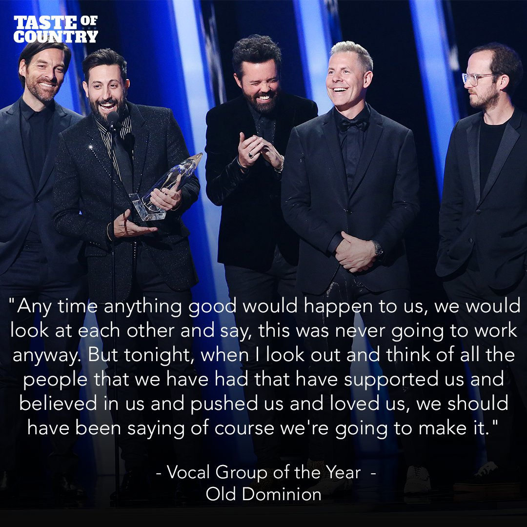 .@OldDominion takes home Vocal Group of the Year!!! #CMAawards