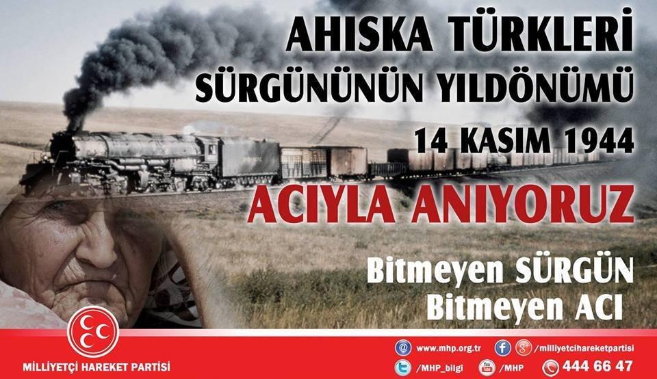 Ahıska Türklerinin, 14 Kasım 1944'te Stalin tarafından iki saat içinde tren vagonlarına doldurularak sürgün edilmelerinin yıl dönümünü ACIYLA ANIYORUZ...