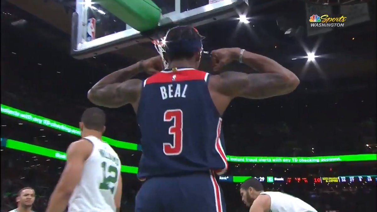 Bradley Beal went OFF for 44 PTS and 61 FPTS in Boston! 🔥