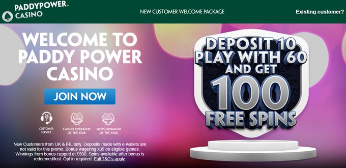 power with 60 deposit 10 play paddy