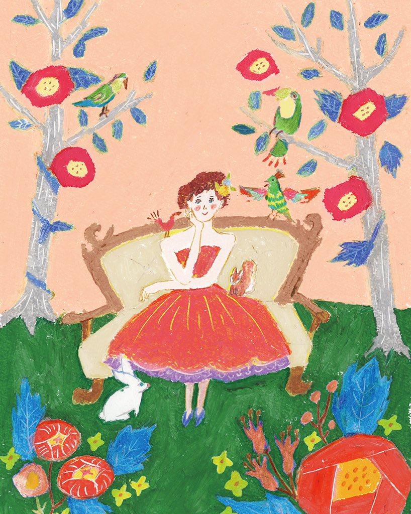 """田室綾乃 イラストレーター on Twitter: """"ピンクドレスの一枚絵 大人になってもドレスのお絵かきができて、それがお仕事だなんて。 お姫様と うさぎをひたすら自由帳に描いていた幼稚園時代の私に教えてあげたいね。… """""""