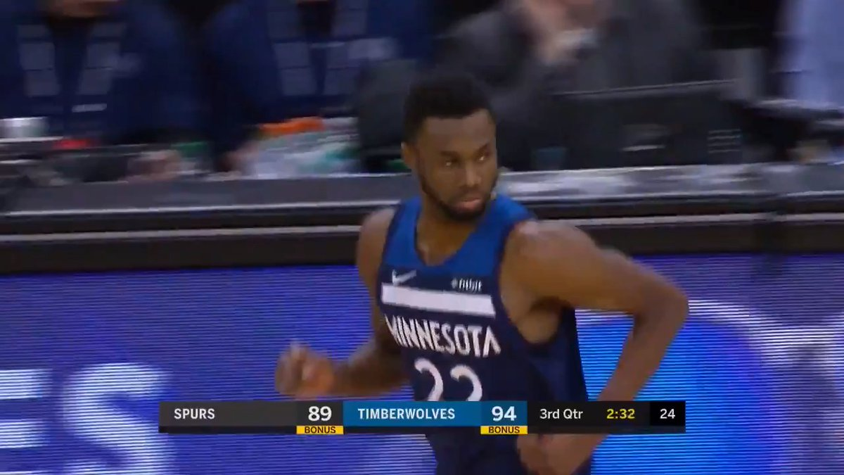 Andrew Wiggins continued his hot streak with 57.1 FPTS in the @Timberwolves victory!  30 PTS 8 REB 7 AST