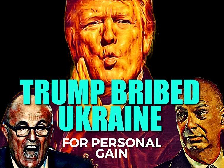Trump bribed Ukraine for personal gain. Bribery is an impeachable offense under the Constitution. #TrumpBribery