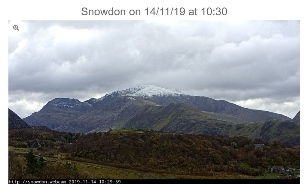 test Twitter Media - Today's view of #Snowdon from the @LodgeDinorwig webcam.  It's pretty cold here in #Llanberis and there's more #snow forecast up at the summit ❄  #Snowdonia #uksnow #Snowing https://t.co/CWxN9AIAxF