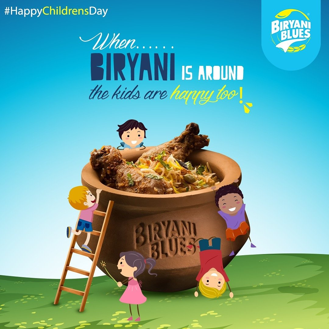 This Children's day treat the younger ones with a Handi full of Taste & Happiness! #HappyChildrensDayOrder online at http://www.biryaniblues.com or call us at 8010-8010-00#BiryaniBlues #ChildrensDay #Biryani #Handi #Fresh #Biryani #BiryaniLover #happiness #ChildrensDay2019