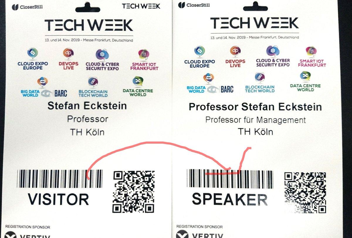 """test Twitter Media - Transformation vom Visitor zum Speaker in einer halben Stunde zum Thema """"Finance und Blockchain – Ergänzung oder Gegensatz?"""" auf der Big Data World in Frankfurt. Ich freue mich schon drauf, hier die @th_koeln 'vertreten' zu können! #BigData #BDWF19 https://t.co/GFQR3bQi2D"""