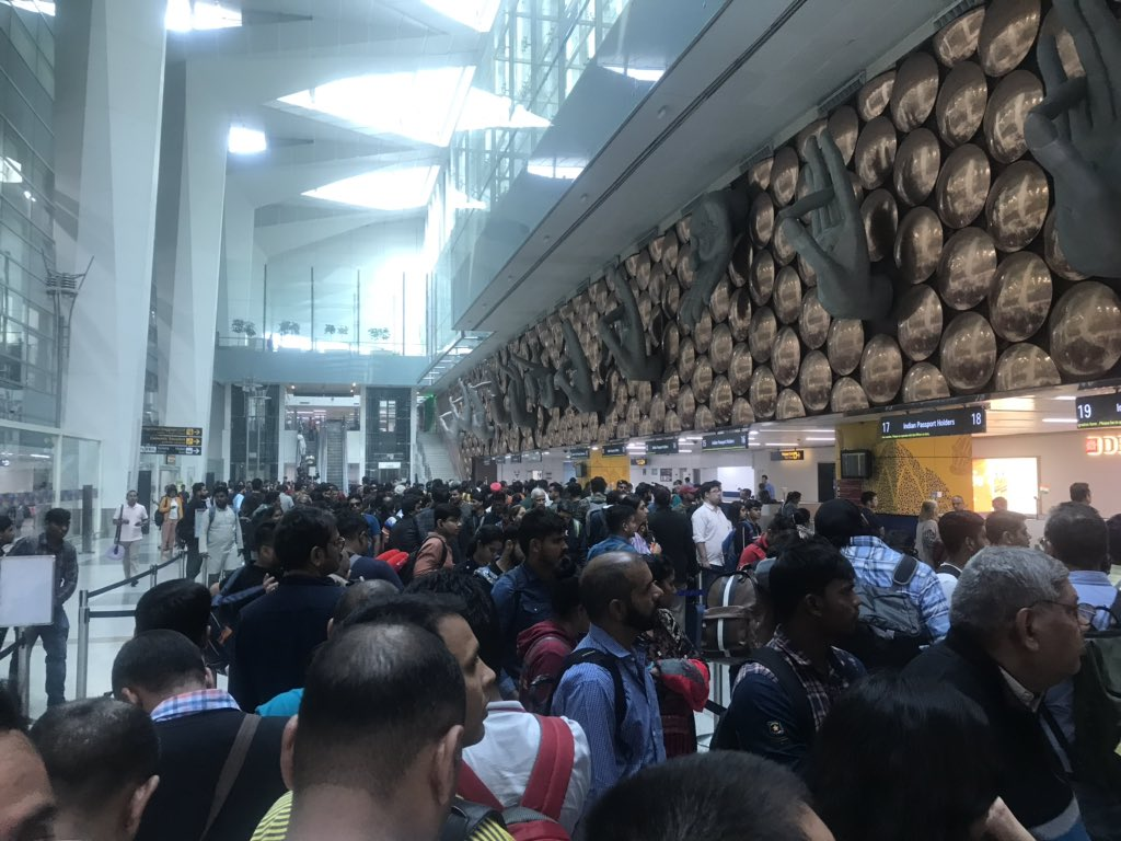 Some things don't change. When authorities don't learn. Nov. 14. @DelhiAirport