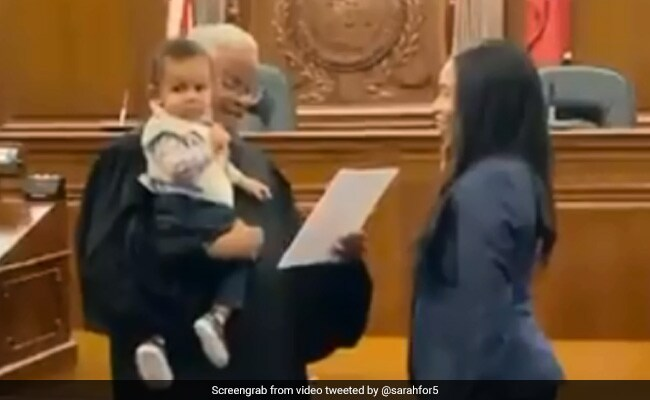 Judge holds law student's baby so he could be part of mom's swearing-in.https://www.ndtv.com/offbeat/judge-holds-law-students-baby-so-he-could-be-part-of-moms-swearing-in-2132308…
