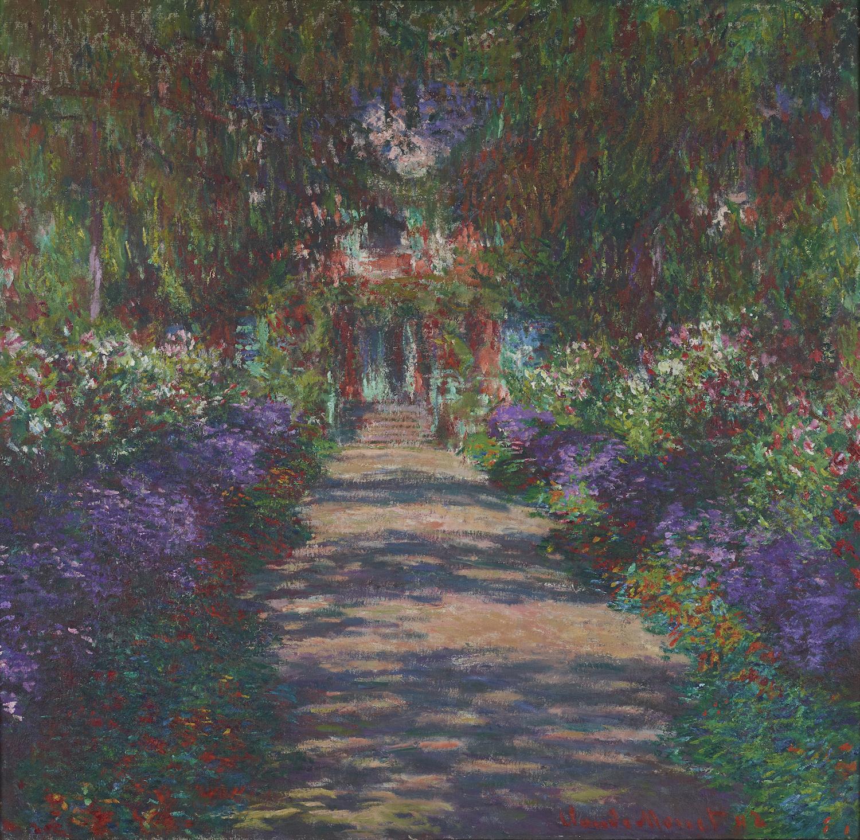 """Uživatel Belvedere Museum na Twitteru: """"Der impressionistische Wegbereiter  #ClaudeMonet wurde heute vor 179 Jahren geboren! Mit """"Weg in Monets Garten  in Giverny"""" (1902) besitzt das #Belvedere eine der berühmten  Gartenlandschaften des Malers ..."""