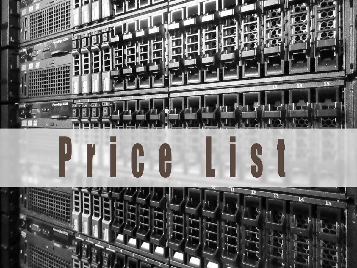 サーバー製品及びストレージ製品のプライスリストはこちらです。  http://bit.ly/2w2QTps  本日もありがとうございました。