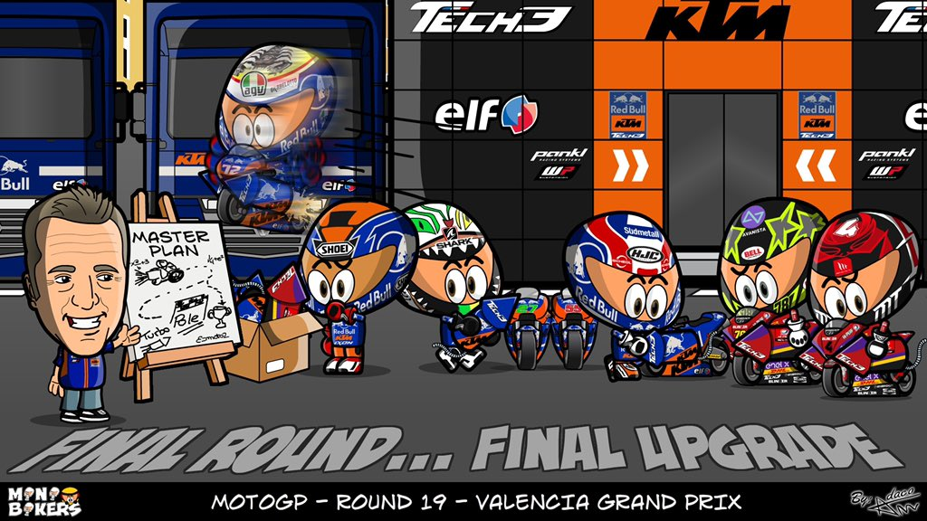 The final round... and we come up with a master plan 🙌🏻✊🏻🇪🇸 #KTM #Tech3 #ValenciaGP #MotoGP @MotoGP #HS55 #IL27 #MO88 #RedBullKTMTech3 #PO65 #MB72 #HG4 #KF78