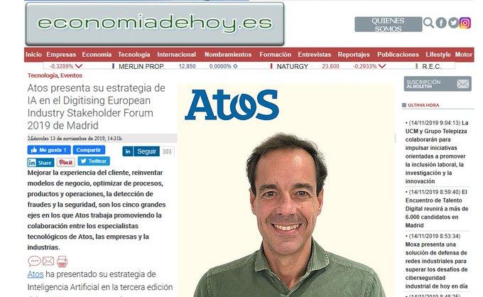 Atos presenta su estrategia de #IA en el Digitising European Industry Stakeholder Forum...