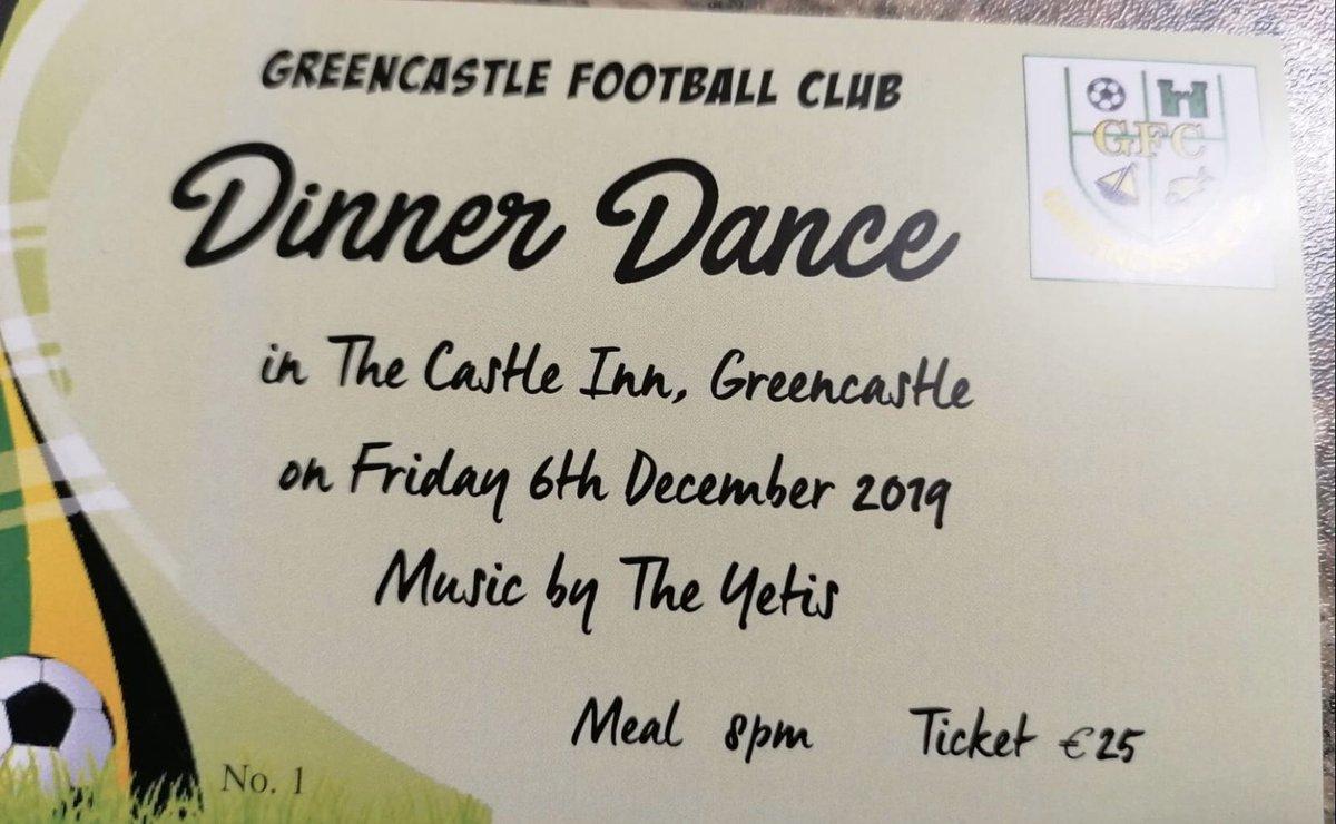 Get your dinner dance tickets. Fri 6th Dec. €25.