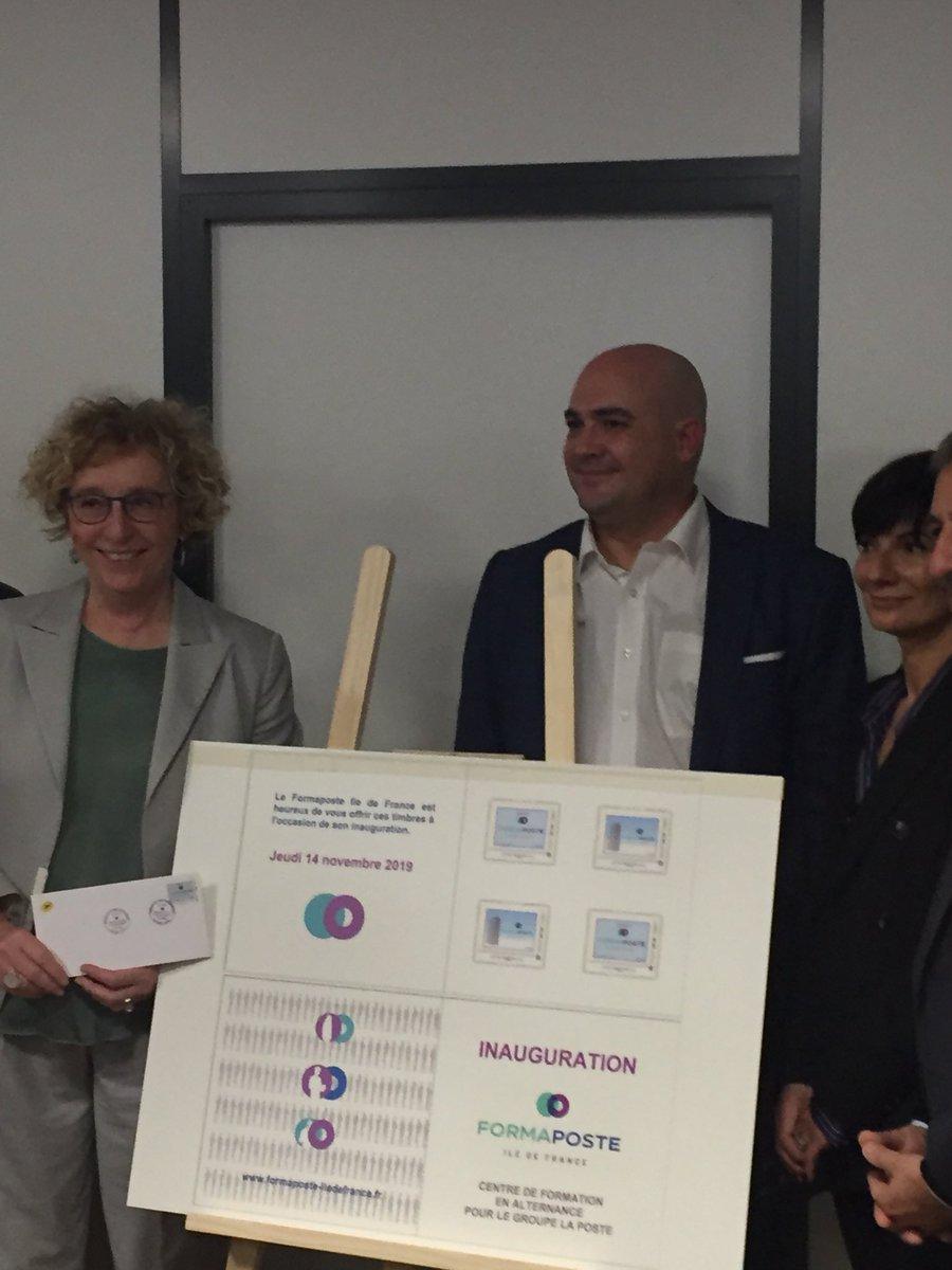 @mediapostfrance présent à l'inauguration des nouveaux locaux du @FormaposteIDF en présence de Madame la Ministre @murielpenicaud https://t.co/zfsuZGExjh