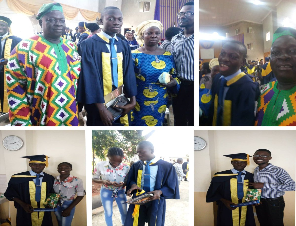 Few pictures from #MyConvocation at LIFE Theological Seminary over the weekend.  Thanks to the Almighty God for His sufficient Grace.  Thanks to family and friends for their support in all forms.  It was beautiful at last... I keep moving #TowardTheGoal, forgetting the pasts.pic.twitter.com/bz2V7DTOSo