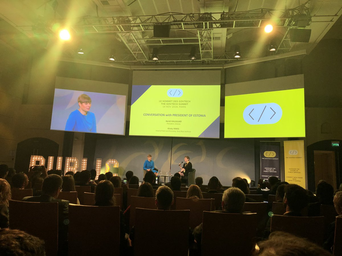 Insights from Estonia by @KerstiKaljulaid and Kirsty Innes #womenintech #WomenInPolitics<br>http://pic.twitter.com/0SypSg8Duc