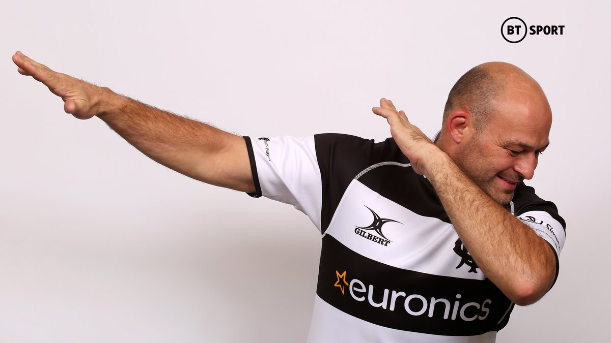 test Twitter Media - Rory Best dabbing in a @Barbarian_FC jersey is actually too much 😂 https://t.co/tGbQcUbmea