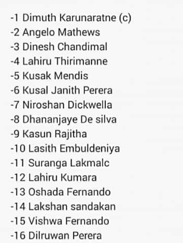 Srilankan Cricket Team's test squad for the series against Pakistan 👇#Srilanka #Cricket @OfficialSLC  #Test #Squad #Pakistan @TheRealPCB #PCB #PAKvsSL
