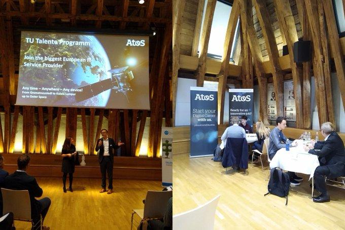 Heute beim Opening des TU Talenteprogramms beantwortet Johann Schachner, CEO #Atos Österreich...