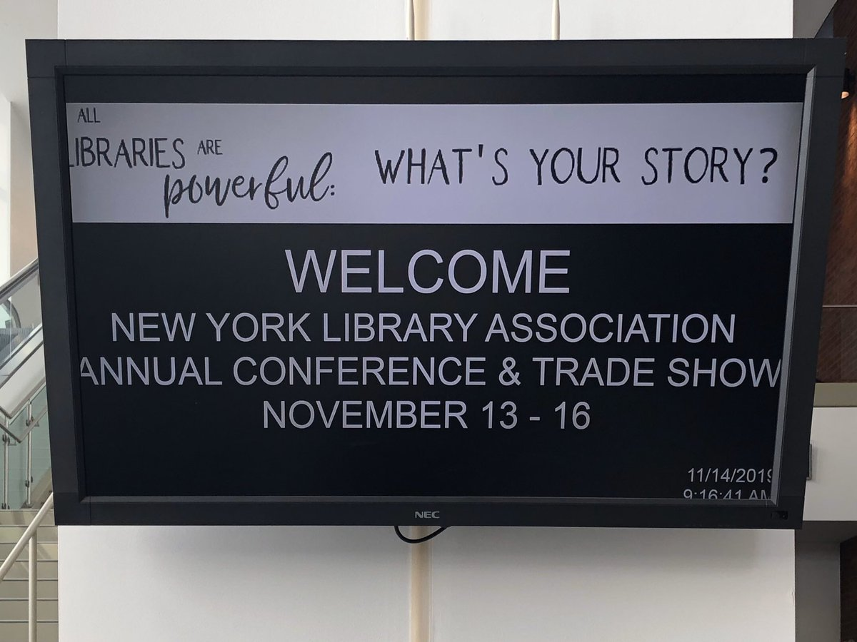 This is today. We love educating & building community awareness with the libraries.