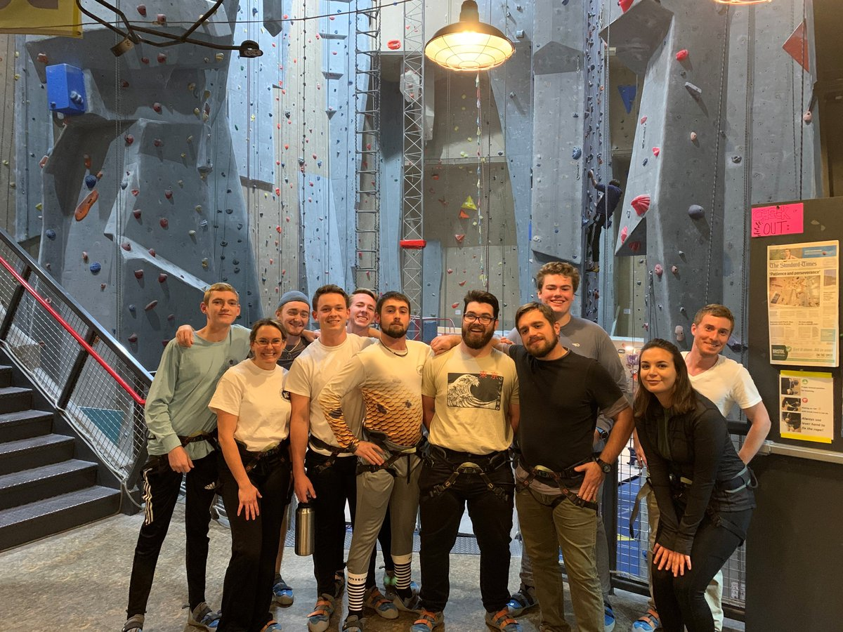 Last night some of our Northeast Maritime Institute - College of Maritime Science students went climbing at Carabiners! Photo Courtesy of Dylan S. #educationadventureemployment #honorthemariner #NMI #carabiners