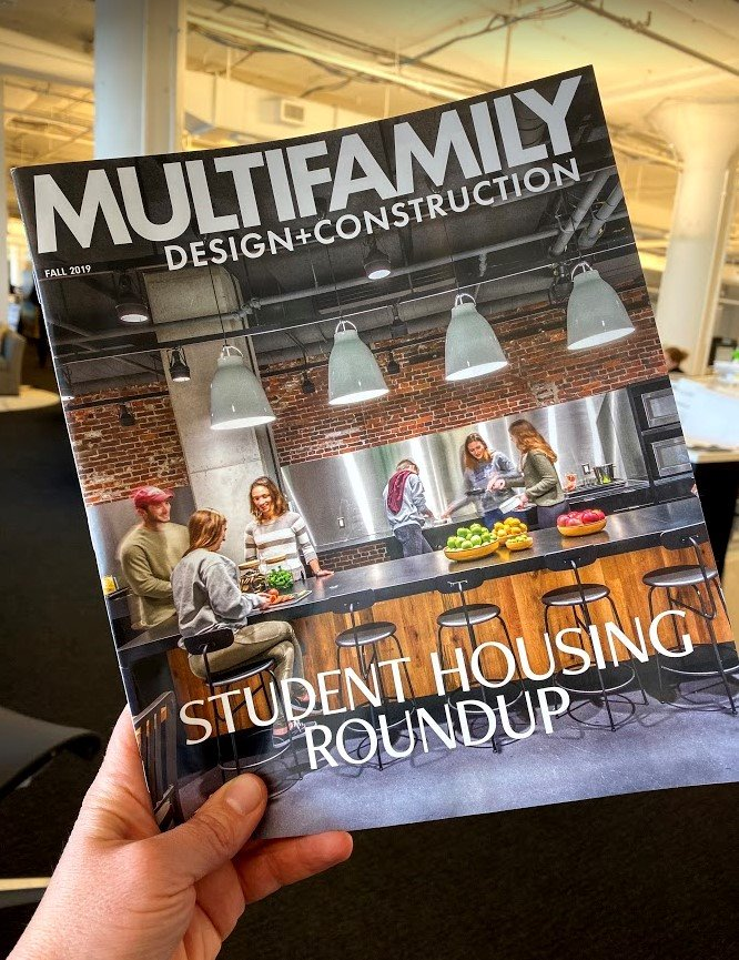 Emerson College's 2 Boylston Place student residence made the cover of @BDCNetwork's Multifamily Design+Construction magazine! A project that strengthened the College's sense of place in Boston's downtown.