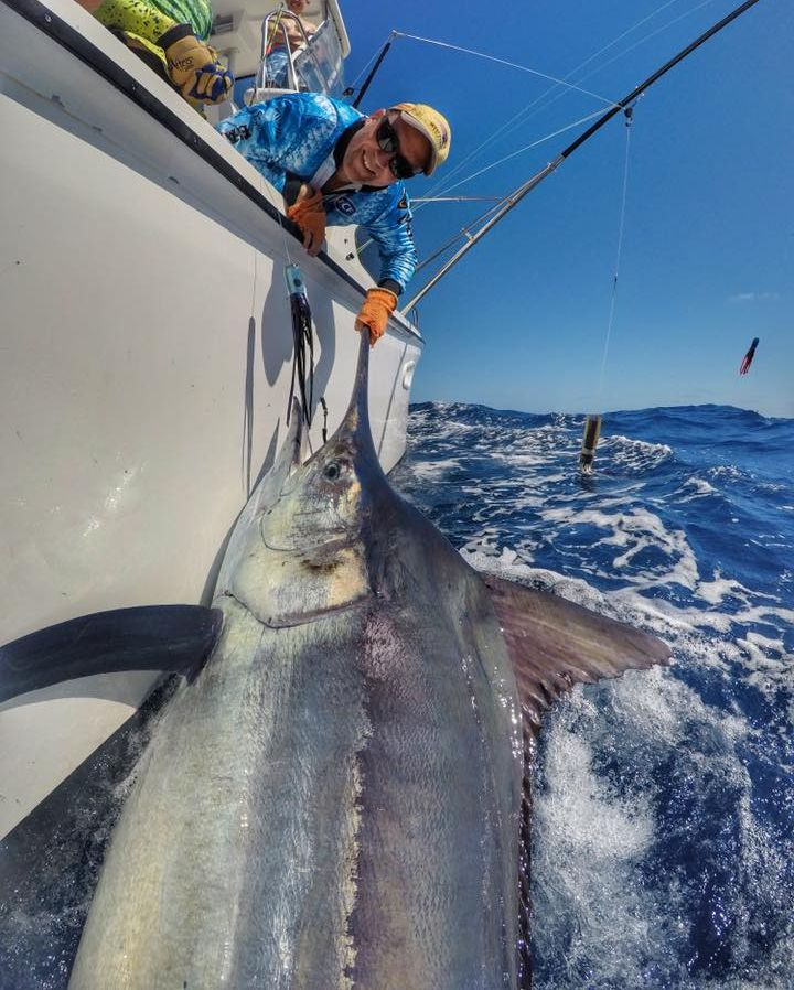 Exmouth, Aus - Peak Sportfishing released a Grand Slam with a Black Marlin, 2 Striped Marlin and 3 Blue Marlin (500).