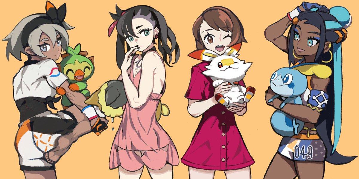 もうすぐダウンロード終わるから少し遊びます!気に入ってる絵4枚#ポケモン剣盾  #PokemonSwordandShield