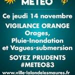 Image for the Tweet beginning: En raison d'un épisode pluvio-orageux