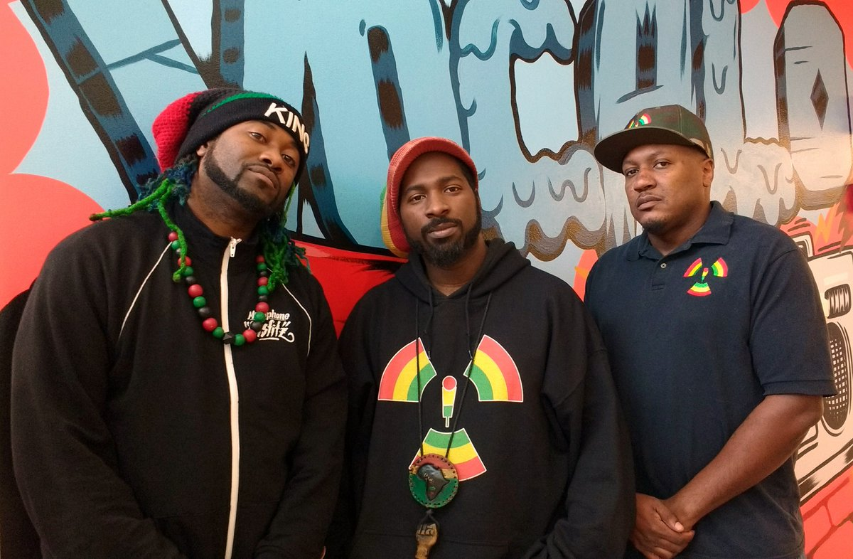 On their new album & comic book, Escape from Babylon Vol. 4, @MicMisfitz travel to space and battle arch-nemesis Autotune. The project drops 11/16 @PocketConComics @ChiCulturCenter. Our convo w/ the dynamic #hiphop crew up next @TheMorningAMp: 📻91.1FM 💻vocalo.org/player