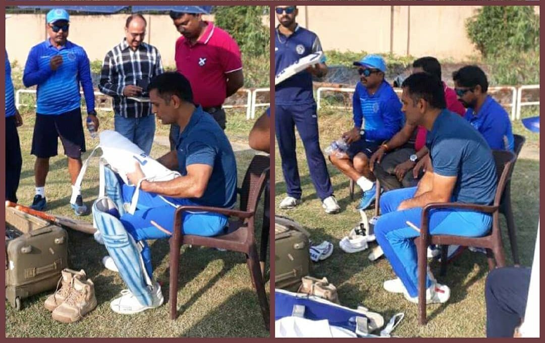 DHONI spotted after his CRICKET net session at JSCA earlier today.  <br>http://pic.twitter.com/A6uD9BCMau
