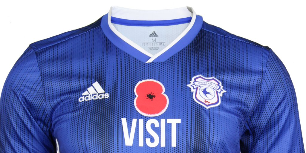 Just 1⃣ hour left to bid on your favourite @CardiffCityFC #poppy shirt! Go to matchwornshirt.com/club/cardiff-c… and support The @PoppyLegion