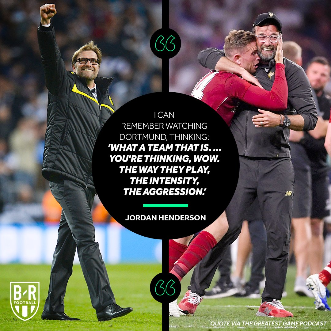 Hendo Liked Klopp from the Start