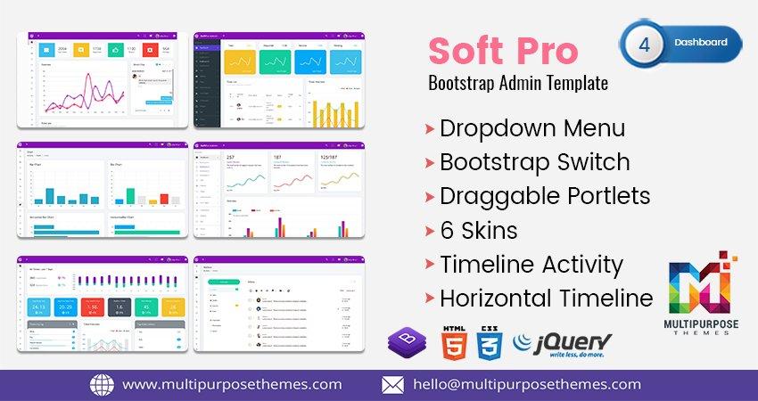 Soft Pro – Responsive Bootstrap 4.1 #AdminTemplate, #UI and #WebApp #Template a fully responsive #admindashboard template built with #Bootstrap 4.1 Framework, modern web technology #HTML5 and #CSS3.    https:// themeforest.net/item/soft-pro- responsive-bootstrap-4-admin-dashboard-template/22997300  …   #Bootstrap4Admin #Bootstrap4AdminDashboard #CMS<br>http://pic.twitter.com/apJz3VKF2i