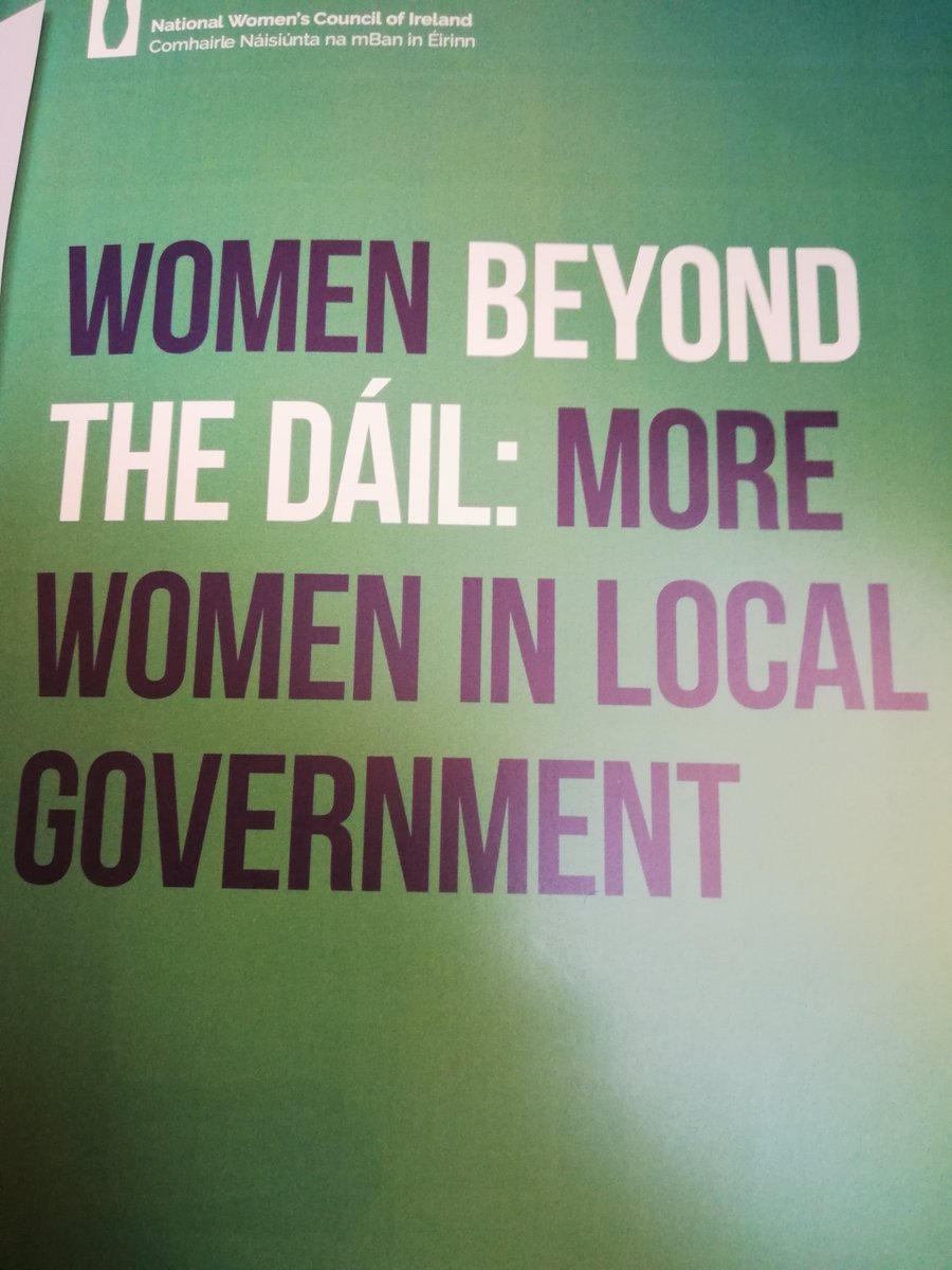 Women Beyond The Dáil:More Women in Local Government @NWCI @MartinaFitzg #WomenBeyondTheDáil