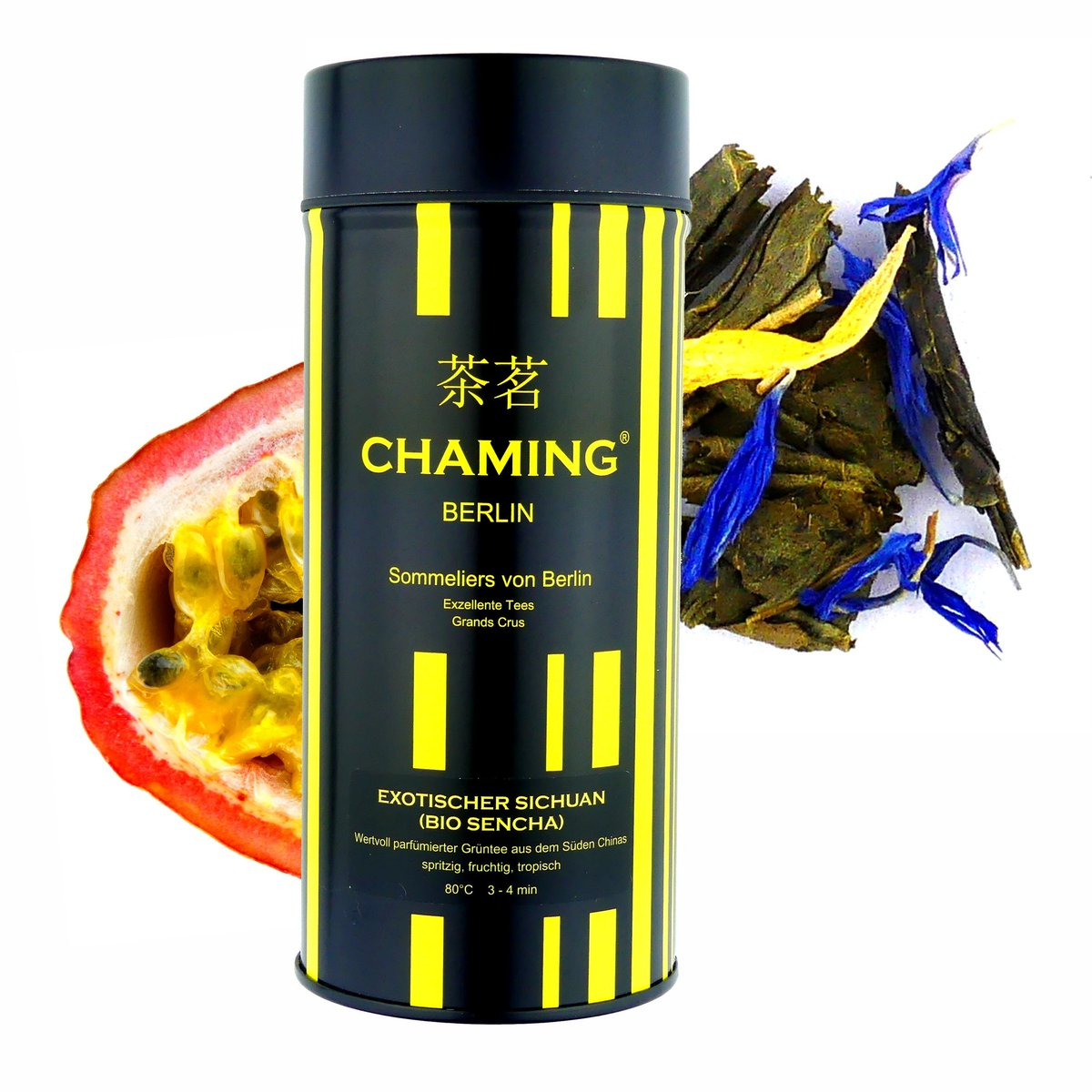 Our EXOTISCHER SICHUAN! #Lively, #fresh notes of #Bergamot and #Passionfruit blend into the green and nutty notes of a Chinese #Sencha underlined by the sensuality of marigold blossoms. A tasty #tea for special moments. #ChamingTea #greentea #grünertee #healthy #organic