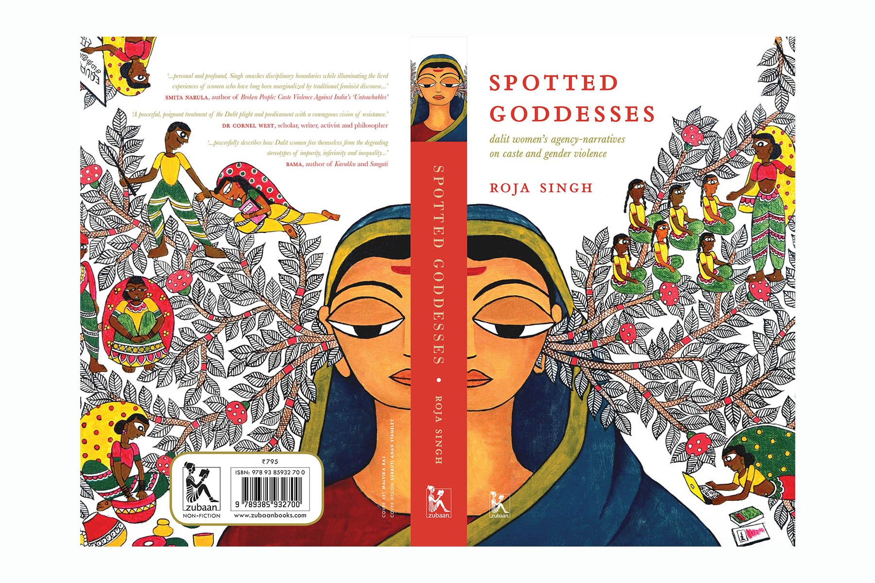 "Zubaan Books on Twitter: ""New in Zubaan #nonfiction: 'Spotted Goddesses:  #DalitWomen's Agency-Narratives on Caste and Gender Violence' by  #RojaSingh, a consummate analysis of the power structures that shape the  foundation of caste"