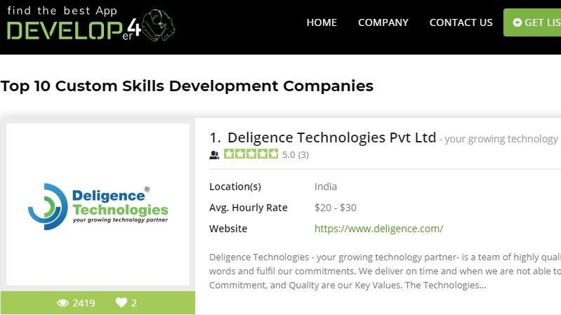 Want to come in a list of  #Top10  #CustomSkills  #Development Companies then  Create your Profile with us now at  https:// develop4u.co/top-custom-ski lls-development-companies  … … #voiceapp #VoiceAppDevelopment #Webdevelopment #appdevelopment @roy_geniuslead @Karim_Geiger @bespokenio @FlorianHollandt @opensignal<br>http://pic.twitter.com/I61vGMh1Ol