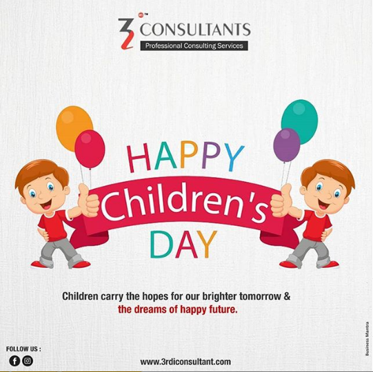 May the innocence in their smiles and the purity of their hearts stay forever unfaded. Wishing a joyful children's day to every kid in the world.. Know more about us @ https://t.co/o1Wa4kXu59 #HappyChildrensDay #Childhood #Kids #3rdi #ProfessionalConsultingServices https://t.co/hnNxTT49CJ