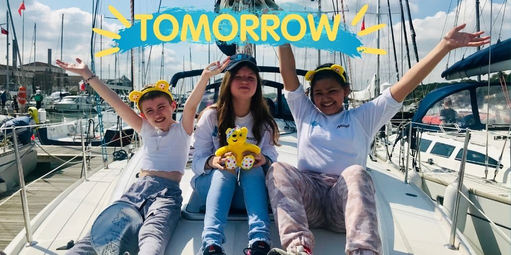 TOMORROW the Trust will be appearing on @CBBC #BluePeter at 5:30pm - make sure you tune in to see the difference our trips make to young people in recovery from cancer. A massive THANK YOU to the support from @BBCCiN for making this possible💙💛 #ThankfulThursday