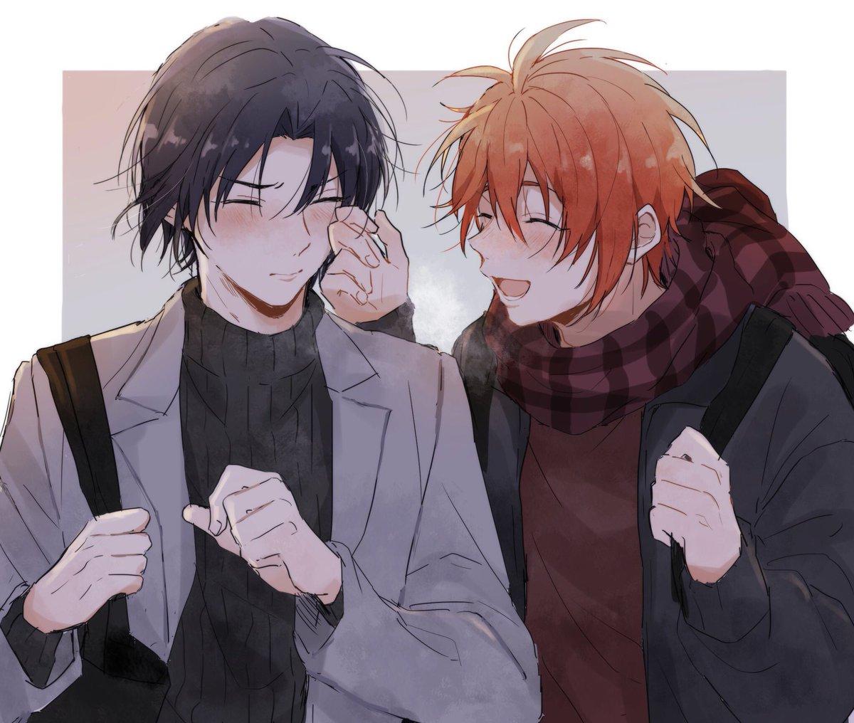 寒い日のりくいお   手が冷たいね🧤