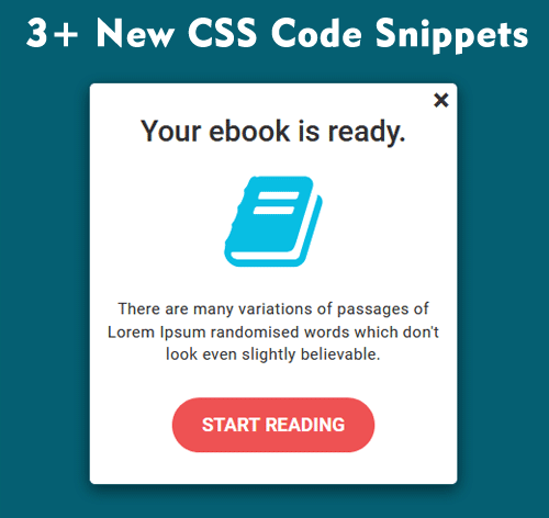3 New CSS Code Snippets    http:// bit.ly/2TSbwh1       #css #bootstrap #WebDesign #html5<br>http://pic.twitter.com/Tun1ho4H0x