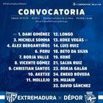 Image for the Tweet beginning: SEGUNDA | Lista de convocados
