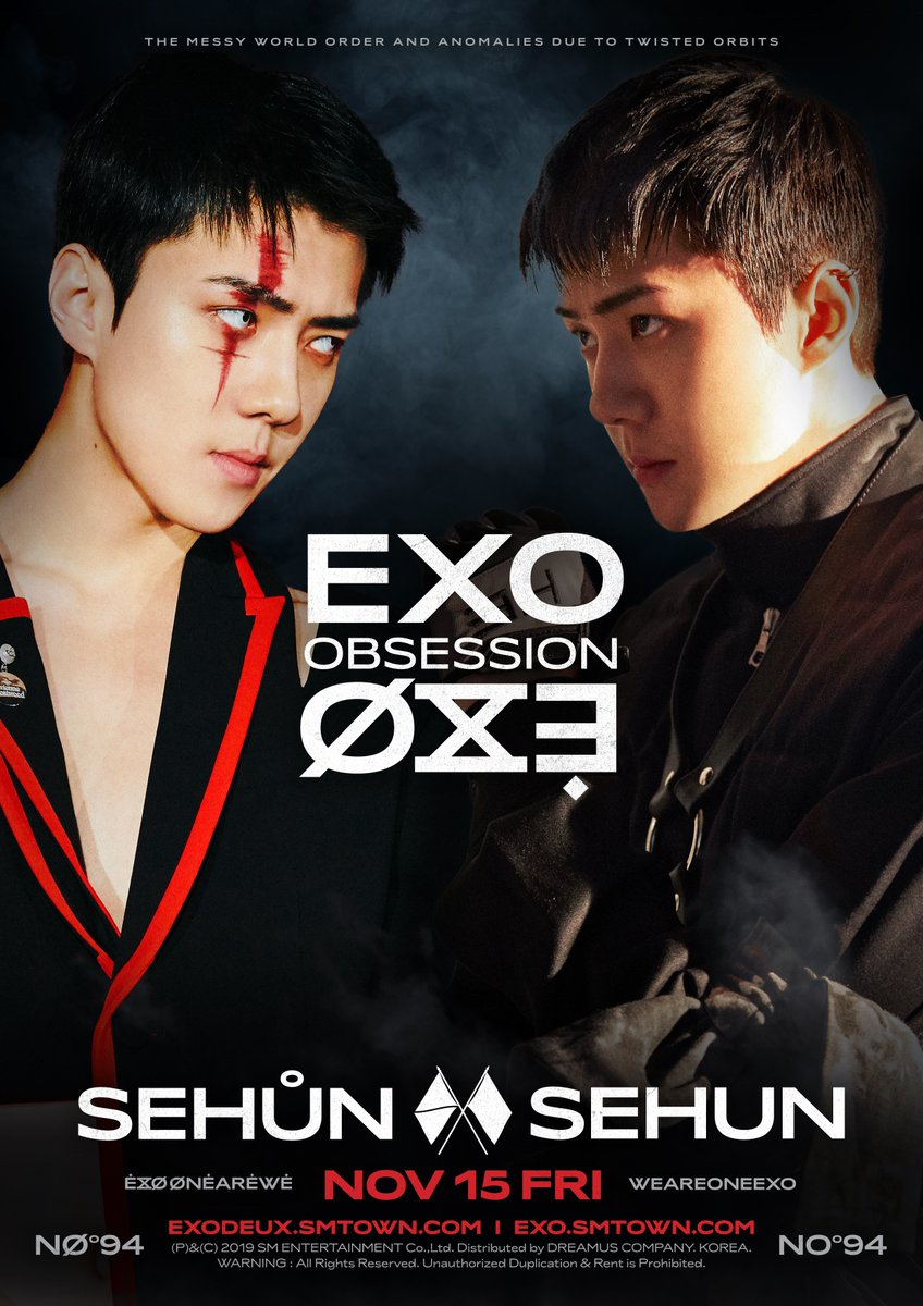 X-EXO 엑스-엑소 VS EXO 엑소 #SEHUN 🎧 2019.11.27. 6PM (KST) 👉 exodeux.smtown.com ✔ The first result comes out at 6 am(KST), and it will be updated every 6 hours. #EXO #엑소 #EXOonearewe #weareoneEXO @weareoneEXO #OBSESSION #EXODEUX