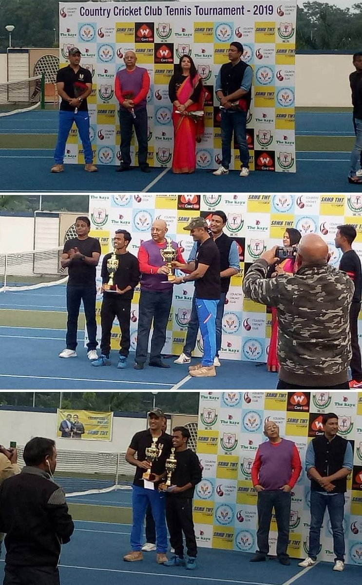 """Breaking News   MS Dhoni and his doubles patner sumeet Win 2nd Consecutive """"Country Cricket Club Tennis Tournament"""" 2019 Doubles Title.    C H A M P I O N  F O R E V E R <br>http://pic.twitter.com/TucUEuS78d"""