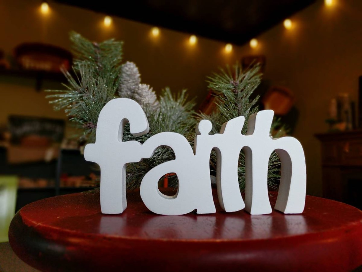 Faith (Small Inspirational- White)  #Etsy #Teaberrywoodproducts #InspirationalWords